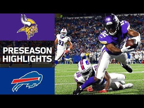 Vikings vs. Bills | NFL Preseason Week 1 Game Highlights - Thời lượng: 4:00.