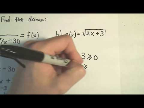 Domain - Finding the Domain of a Function Algebraically (No graph!)
