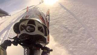 6. Utah Gopro Footage Turbo Arctic Cat m8 Snowmobile Wheelie's entire STEEP hill Boondocking thru Trees