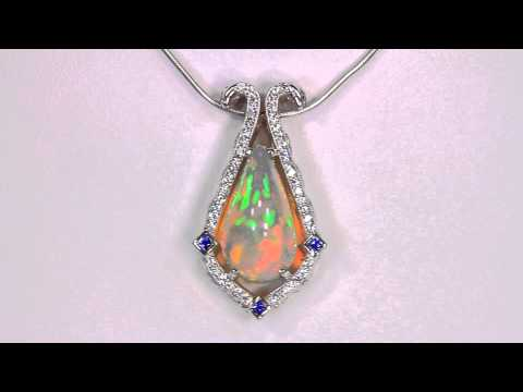 Christopher michael design with a 647 carat welo opal pendant aloadofball Images