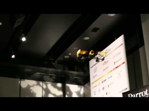 Bebop Droneの飛行デモ@TechCrunch Tokyo 2014