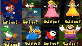 Mario Party 9 - All Character Victory Celebrations | Cartoons Mee