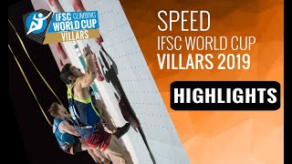 IFSC Climbing World Cup Villars 2019 - Speed - Highlights by International Federation of Sport Climbing