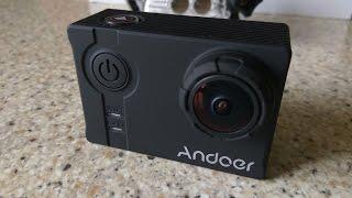 """Купить Andoer 4K: http://shrsl.com/?gxtmКУПОН только для моих подпищиков: ANDOER35 Действует на белую и черную камеру. Дает 35$ скидку.Andoer 4K 1080P 120fps 720P 240fps Full HD Adopt for Ambarella A12S75 16MP WiFi Anti-shake Waterproof Diving 60m 2.0"""" LCD 166°Wide Angle Lens Sports DV Cam"""