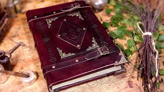 Video Making a HEAVY Spellbook with REAL Leather! MP3, 3GP, MP4, WEBM, AVI, FLV Juli 2019