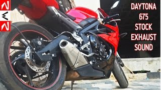 2. 2015 Triumph Daytona 675 stock exhaust Sound | RWR