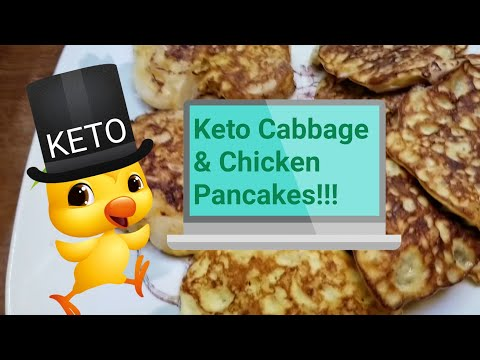 Atkins diet - How to make Ketogenic Cabbage and Chicken Pancakes. Low Carb diet Recipe