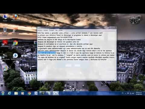Como activar WINDOWS 7 con remove watt