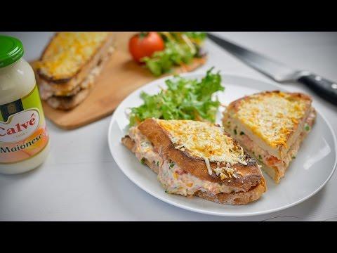 Calvé | Receita tosta de atum com queijo