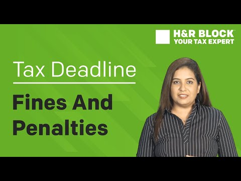 What happens when you don't meet the Tax Deadline!