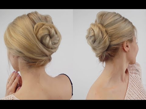 Easy hairstyles - EASY LAZY HAIRSTYLE QUICK FRENCH TWIST BUN UPDO  Awesome Hairstyles