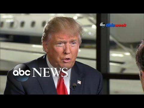 Donald Trump Takes Aim at Hillary Clinton Despite Fractured GOP
