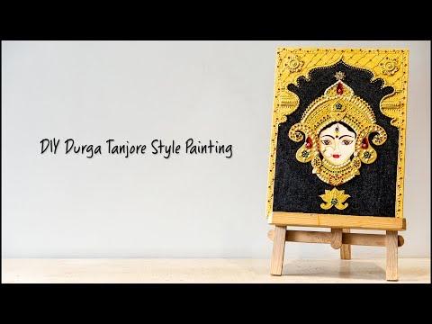 DIY Durga Tanjore Style Painting