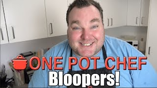 """Nobody's perfect - especially me! Here is a quick collection of line fluffs, stuff ups and random giggling from behind the scenes of The One Pot Chef! WARNING: some mild coarse language ahead!Subscribe to One Pot Chef (it's free!):http://bit.ly/SubOPCONE POT CHEF COOKBOOKS - PAPERBACKS AND EBOOKS:http://www.lulu.com/spotlight/onepotchefONE POT CHEF COOKBOOKS ON iTUNES BOOKSTORE:http://itunes.apple.com/au/artist/dav...ONE POT CHEF APRONS + T-SHIRTS NOW AVAILABLE!http://shop.studio71us.com/collection...Filmed in 4K using the Sony FDRAX100 Video Camera - Check it out here:https://goo.gl/iHLnHPFollow me on Social Media:Twitter:http://www.twitter.com/onepotchefFacebook:http://www.facebook.com/onepotchefInstagram: http://www.instagram.com/onepotchefshowMusic Credits:""""Comparsa""""by Kevin MacLeodhttp://incompetech.comRoyalty Free Music - Used with Permission under Creative Commons license."""