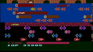 Frogger: Slow [Parker Brothers] (Atari 400/800/XL/XE Emulated) by S.BAZ