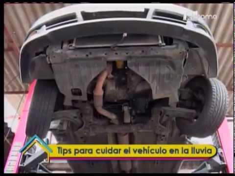 Tips para cuidar el vehículo en la lluvia