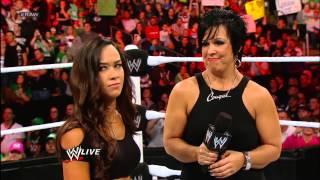 Vickie Guerrero plays voicemails she claims AJ left for John Cena: Raw, Nov. 12, 2012
