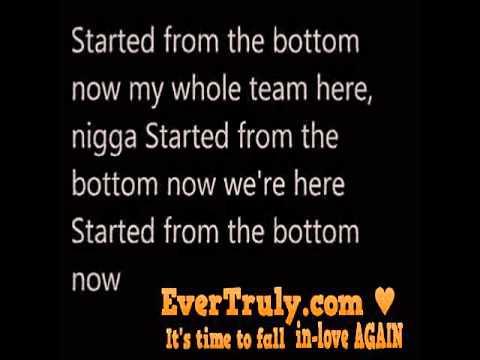 Drake - started from the bottom lyrics DIRTY UNCENSORED LYRICS