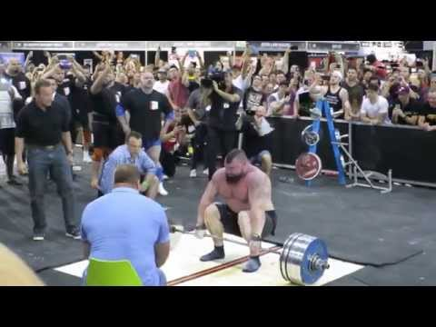 Eddie Hall - 462 KG / 1018.5 Pounds - World Record видео