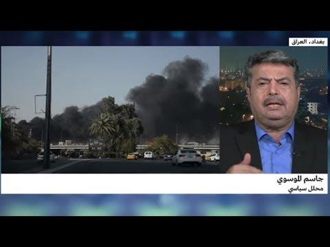 العرب اليوم - شاهد: توقيف مشتبهين في حريق مخازن صناديق اقتراع الانتخابات العراقية