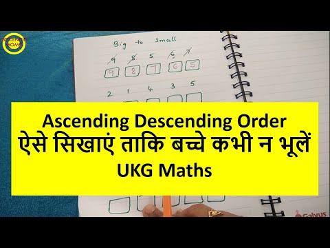 बच्चों को Ascending Descending Order कैसे सिखाएं Correct Way of Teaching Ascending Descending Order