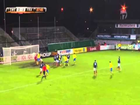 celebrates - Background story: Sweden needed to win the game by 3 goals to qualify for the 2015 U-21 European Championship. If France would have lost the game with 2 goals or less they would go through...
