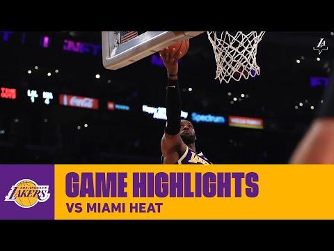 HIGHLIGHTS | LeBron James (25 points) Highlights vs. Miami Heat (11/8/19)