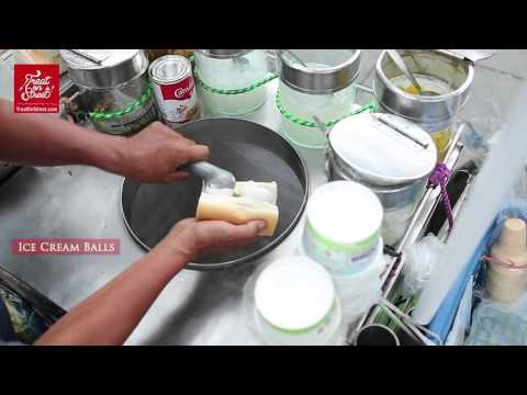 Bangkok Street Food | Thai Ice Cream Sandwich With Fruits And Jellies - The Chang Grand Palace