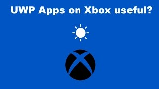 With the roll out of UWP (Universal Windows Platform) apps on the Xbox One I thought I would discuss why these apps could've...