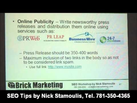 Watch 'Video:  ‪SEO Link Building with Online PR‬‏'