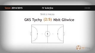 GKS Tychy vs Nbit Gliwice (4 kolejka) - skrót