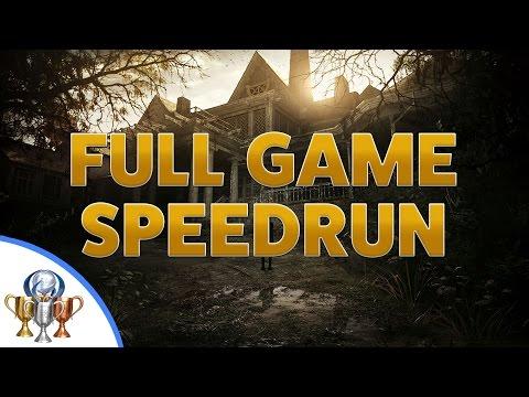 Resident Evil 7 Biohazard Speedrun - Full Game Walkthrough - Circular Saw & X-ray Glasses Reward (видео)