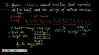 Programming Interviews: Counting Sort (sort in O(n) time complexity)