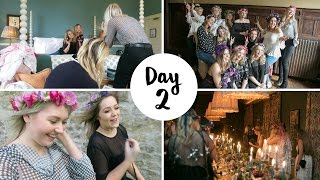 Day 2 at Babington House with Nina Ricci! Flower crown making, photo taking, spa treatments and a magical dinner ♥CATCH UP ON YESTERDAY'S VLOG: https://www.youtube.com/watch?v=d9N8WbULRl4MORE MEG:Twitter - http://www.twitter.com/megsaystweetInstagram - http://www.instagram.com/megsays_Snapchat - megsayssnapFacebook - https://www.facebook.com/Meg-Says-147...BlogLovin' - http://www.bloglovin.com/blog/11907731WantFeed - http://wantfeed.com/megsays/wantsDepop - http://www.depop.com/en/megsaysFRIENDS:Ellie at Elle Next Door- https://www.youtube.com/channel/UCwtkMYlOUpTLFdV4grE0BcwLucy & Lydia- https://www.youtube.com/user/LucyAndLydiaCarly Rowena- https://www.youtube.com/user/CarlyrowenaSabrina at A Little Obsessed- https://www.youtube.com/user/ALittleObsessedUKJess at Cocoa Chelsea- https://www.youtube.com/channel/UCCnw2TnmA9LKvvhLF-m4wewSuzie at Hello October- https://www.youtube.com/user/HelloOctoberxoAlix at I Covet Thee- https://www.youtube.com/user/icovettheeRupinder Mundra- https://www.youtube.com/user/rougerosepetaleJosie at Fashion Mumblr- https://www.youtube.com/channel/UCCmfa729dnJCi_bK7fSNbpwKatie at KALANCHOE- https://www.youtube.com/channel/UCdkp8QY3A23A1Zp2pwdeJsgLaura at Tiny Twisst- https://www.youtube.com/user/tinytwisstDebs at Bang On Style- http://www.bangonstyleblog.com/WHAT I'M WEARING:Boohoo Gingham Ruffle Bodysuit- http://rstyle.me/n/ciww76b3g2fNew Look Black High Waisted Emilee Jeggings- http://rstyle.me/n/chhipmb3g2fASOS Black Western Waist Belt- http://rstyle.me/n/ciqam9b3g2fRiver Island Black Suede Ankle Boots (very similar)- http://rstyle.me/n/ciqarhb3g2fCharlotte Elizabeth The Pink Bloomsbury- https://www.charlottelizabeth.com/products/the-pale-pink-bloomsburyASOS Navy Star Print Satin Pyjamas- http://rstyle.me/n/ciwxz2b3g2fNA-KD Black Polka Dot Coat Dress- http://rstyle.me/n/ciwxu5b3g2fNA-KD Faux Suede Lacing Dress- http://rstyle.me/n/ciwxv9b3g2fRiver Island Teal Tie-Up Cut-Out Court Shoes- http://rstyle.me/n/ciwxxdb3g2fWhistles Black Leath