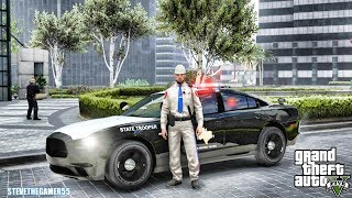 GTA 5 MODS LSPDFR 0.4 - TEXAS STATE TROOPER CHARGER!!! (GTA 5 REAL LIFE PC MOD)