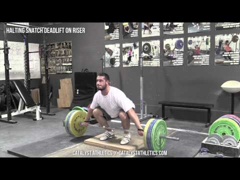 Halting Snatch Deadlift on Riser - Olympic Weightlifting Exercise Library - Catalyst Athletics