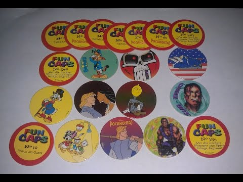 Fun Caps Pogs Sammlung Disney Entenhausen Pocahontas + Versprecher Fail