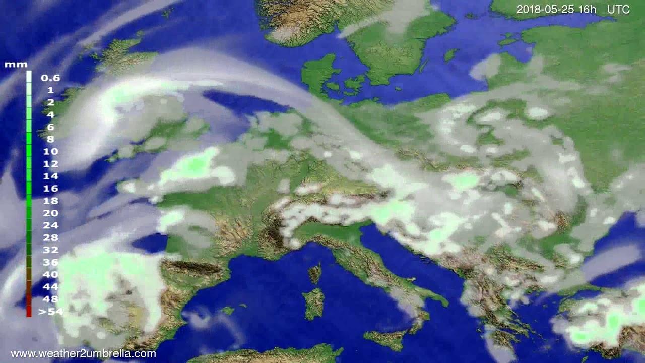 Precipitation forecast Europe 2018-05-22
