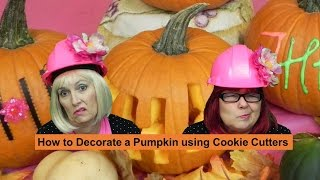 How to decorate a pumpkin with cookie cutters