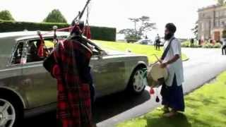 Dhol and bagpipe