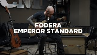 The Emperor Standard, Fodera's double cutaway,  bolt-on offering, combines the classic sparkle and chime of '60s and '70s blues and surf sounds with added tonal flexibility for today's player. Available with a premium, hand-selected Alder body and Indian Rosewood fingerboard paired with a 3-piece Hard Rock Maple neck and angled back headstock, the Emperor guitar offers a rich, balanced, and even tone.Gear Used:Fodera Emperor Standard (https://goo.gl/HAzzLR)Strymon El Capistan (https://goo.gl/NdV2BY)Friedman Dirty Shirley Amp (https://goo.gl/DyMtfp)Aston Mic (https://goo.gl/AkiLEL)Shure SM-57 (https://goo.gl/2cafJe)*All riffs are original compostions from Micah's band: MAGRATHEA