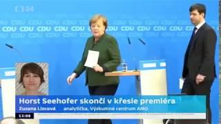 Horst Seehofer končí v křesle premiéra