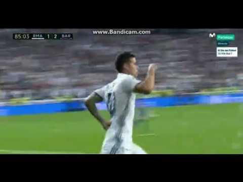 Gol de James Rodriguez   Real Madrid 2 3 Barcelona