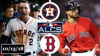 Houston Astros vs Boston Red Sox Highlights || ALCS Game 1 || October 13, 2018