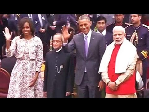 president - US President Barack Obama is at Rashtrapati Bhawan, his third visit since yesterday, this time for an