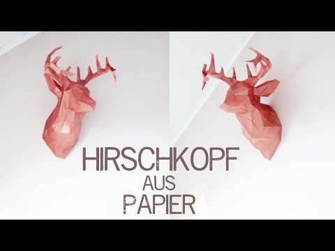 DIY Origami Hirschkopf Trophäe - kekulo