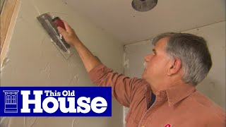 How to Use a Membrane System to Prep a Shower for Tiling | This Old House
