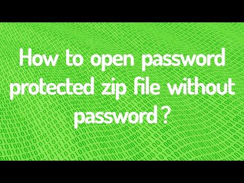 Open Password Protected Zip Files Without Password