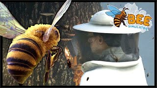 Humans Destroy Our Bee Hive In Bee Simulator