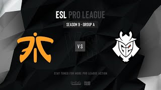 fnatic vs G2 - ESL Pro League Season 9 EU - map2 - de_inferno [TheCraggy & Pch3lkin]